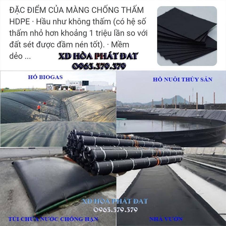 Hình ảnh : bạt chống thấm HDPE có độ bền cao giá rẻ Hòa Phát Đạt