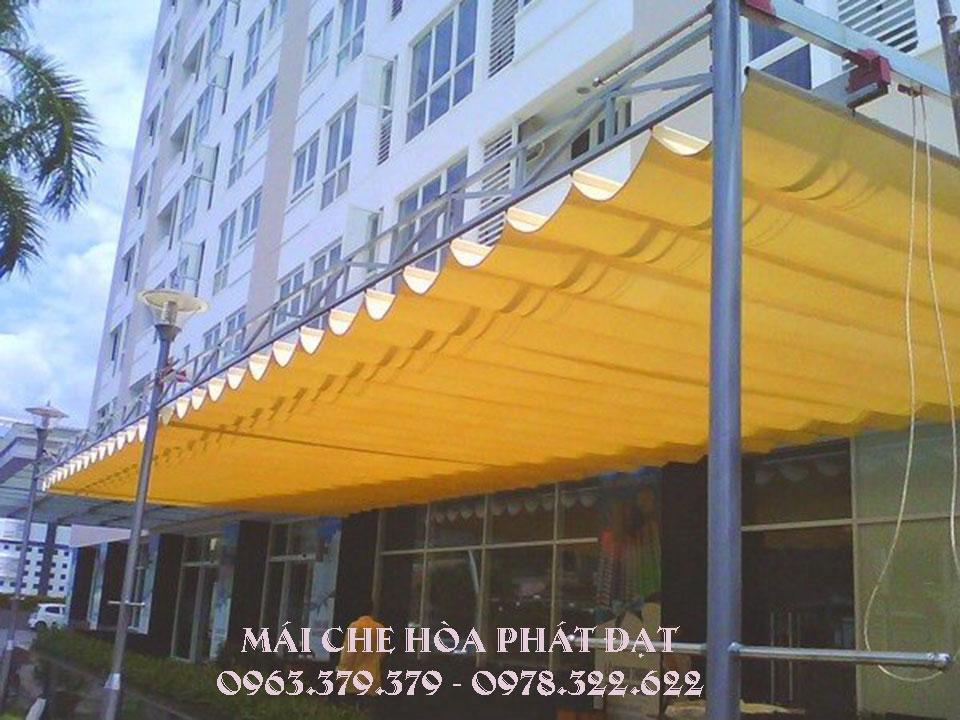 Báo giá lắp đặt mái xếp bạt kéo di đông ở tại Hà Nội giá rẻ chất lượng