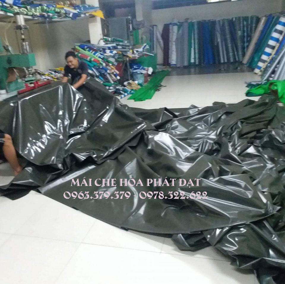 Cung cấp vải bạt, nhận may ép bạt mái che xếp kéo giá rẻ theo yêu cầu